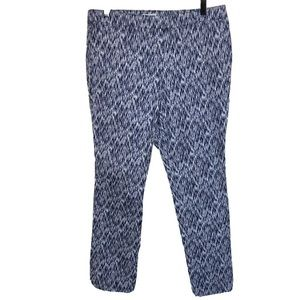 Soft Surroundings Pants 8 Blue White Ikat Chinos